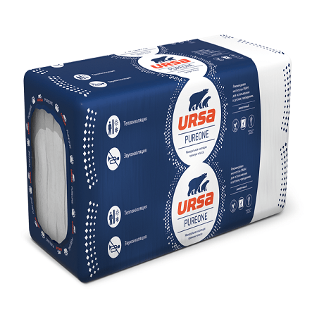 Утеплитель URSA PUREONE 34 PN (1250х600х50 12 плит 0,45м3),  Распродажа!
