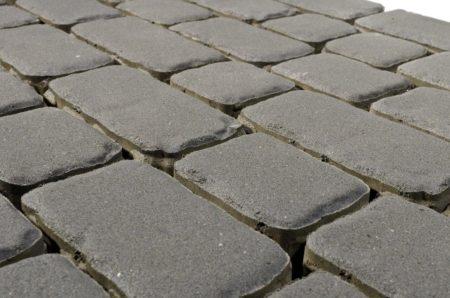 Тротуарная плитка BRAER Ривьера, cерый