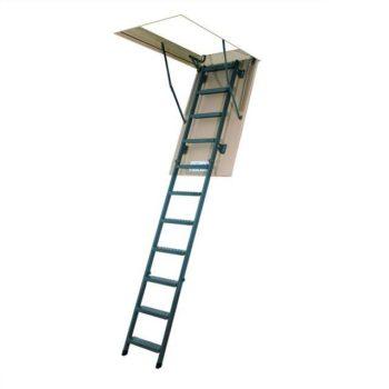 Складная металлическая лестница LML Lux Fakro с телескопическими ножками