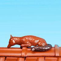 """Керамическая черепица Декоративный элемент конька BRAAS-Keramik """"лиса"""" 52 см"""