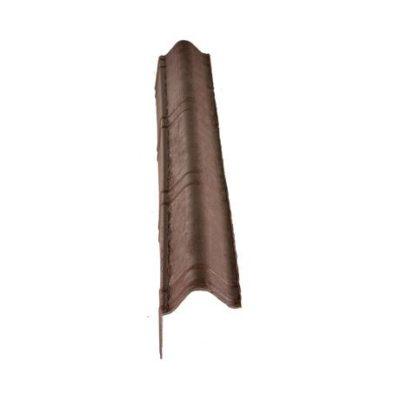 Щипцовый элемент L=1040 мм Onduvilla коричневый 3D