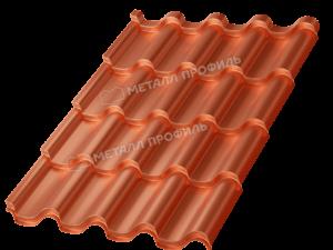 Металлочерепица МП Монтерроса-M (AGNETA-03-CopperCopper-0.5)