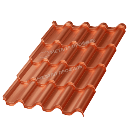 Металлочерепица МП Монтерроса-X (AGNETA-03-CopperCopper-0.5)