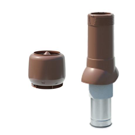 Труба изолированная вентиляционная с колпаком 125/160 H=500 мм Технониколь