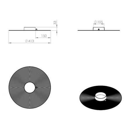 Уплотнитель парозатвора HT 110 мм Vilpe