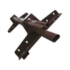 Снегозадержатель трубчатый R оцинк. на металлочерепицу, профнастил, гибкую черепицу L=3 м (20х40 мм, 4 опоры)