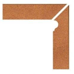 Клинкерный плинтус под ступень – флорентинер правый (9006) Duro 804  Stroeher