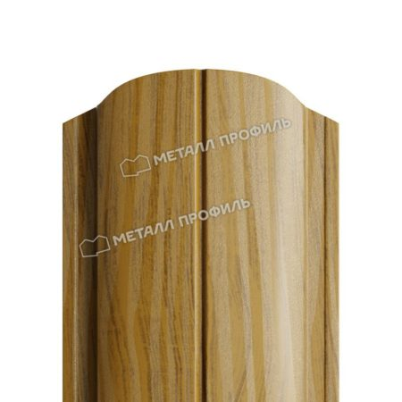 Штакетник металлический МП ELLIPSE 19х126 (ECOSTEEL_T-01-ЗолотойДуб-0.5)