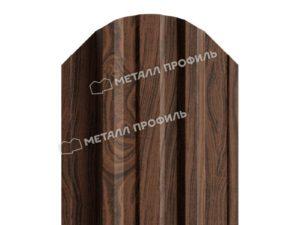 Штакетник металлический МП TRAPEZE 16,5х118 (ECOSTEEL_МАД-01-МореныйДуб-0.5)