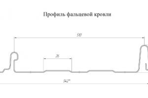 Кликфальц Line 0,5 Satin Мatt на замках