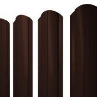 Распродажа! Штакетник Grand Line Круглый фигурный 0,45 PE RAL 8017 шоколад (1,8м)