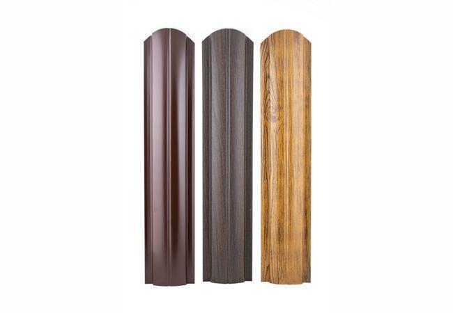 Штакетник Полукруглый Slim фигурный Grand Line Покрытие Quarzit Lite