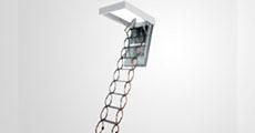 Ножничные металлические лестницы