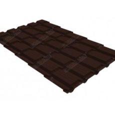 Металлочерепица квадро профи Grand Line 0,5 PE-Matt RAL 8017 шоколад