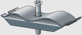 Крепёж ЛВ-Б-10.4.3,5-ОС к лотку водоотводному бетонному и полимерпесчаному