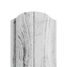 Штакетник металлический МП ELLIPSE-O 19х126 (ECOSTEEL_MA-01-Беленый Дуб-0.5)