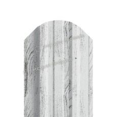 Штакетник металлический МП TRAPEZE-O 16,5х118 (ECOSTEEL_MA-01-Беленый Дуб-0.5)