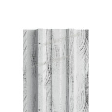 Штакетник металлический МП TRAPEZE-T 16,5х118 (ECOSTEEL_MA-01-Беленый Дуб-0.5)