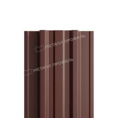 Штакетник металлический МП TRAPEZE-T 16,5х118 (PURETAN-20-8017-0.5)