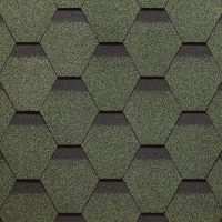 Распродажа! Гибкая черепица Döcke PIE STANDART Сота 3,0 м2 цвет зеленый