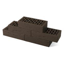 Кирпич BRAER 0.7 НФ 250х85х65 мм рифленый коричневый
