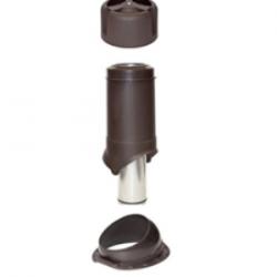 Комплект (проходка, труба, колпак) Wave 110 для металлочерепицы KROVENT