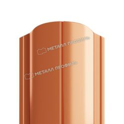 Штакетник металлический МП ELLIPSE-O 19х126 (AGNETA-20-CopperCopper-0.5)