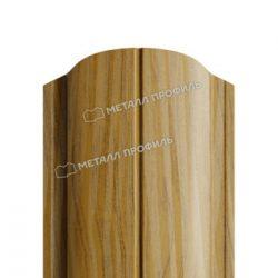 Штакетник металлический МП ELLIPSE-O 19х126 (ECOSTEEL_T-01-ЗолотойДуб-0.5)