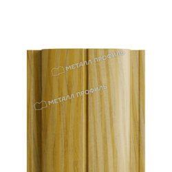 Штакетник металлический МП ELLIPSE-T 19х126 (ECOSTEEL_T-01-ЗолотойДуб-0.5)