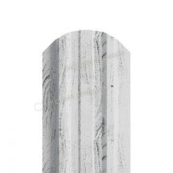 Штакетник металлический МП LАNE-O 16,5х99 (ECOSTEEL_MA-01-Беленый Дуб-0.5)