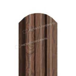 Штакетник металлический МП LАNE-O 16,5х99 (ECOSTEEL_МАД-01-МореныйДуб-0.5)