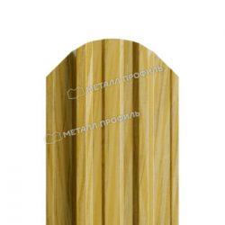 Штакетник металлический МП TRAPEZE-O 16,5х118 (ECOSTEEL_ТД-01-ЗолотойДуб-0.5)